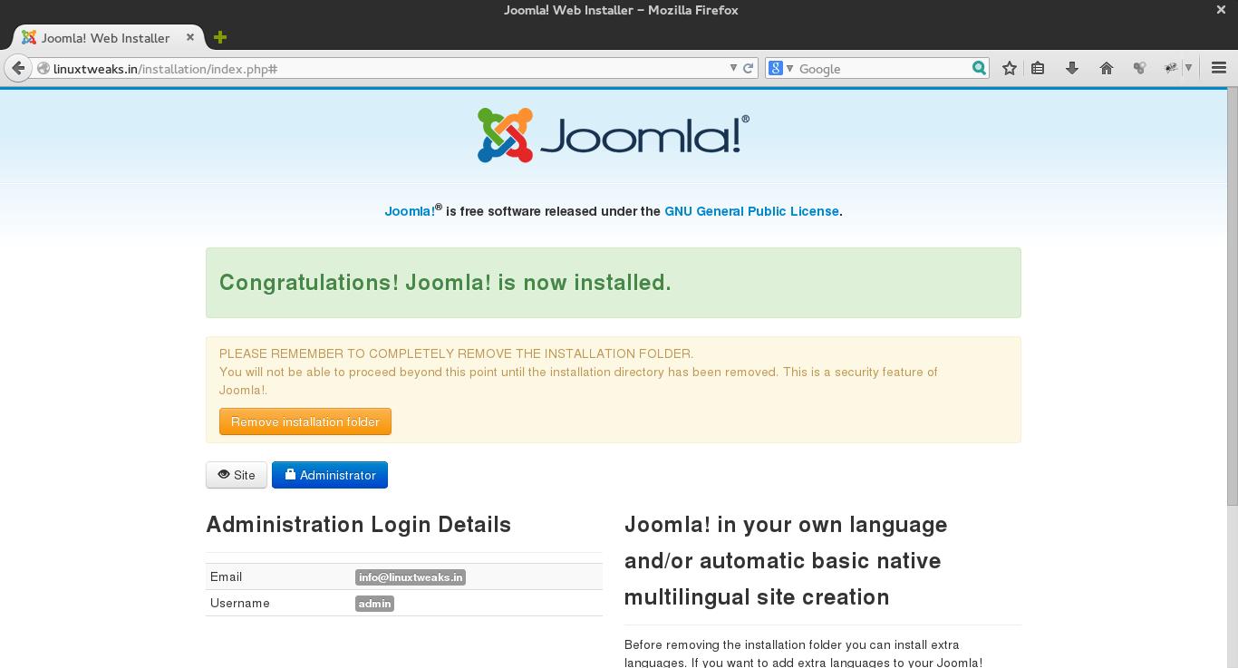 Joomla_5_congratulation